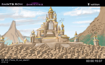 Escape the Dominatrix - castle concept art