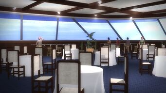 Executive Yacht - dining room - left