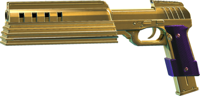 File:SRIV SMGs - Rapid-Fire SMG - Cyborg Pistol - Gold-Plated.png