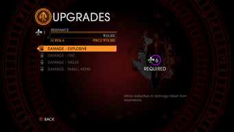 Upgrades in Saints Row Gat out of Hell - resistance