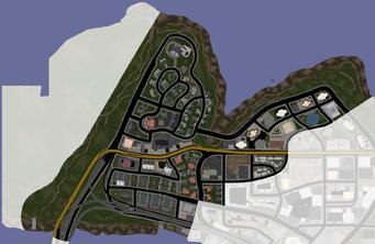Suburbs map in Saints Row