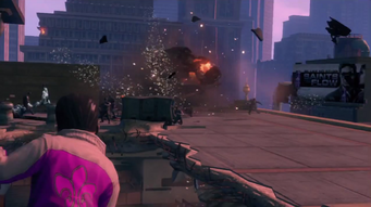 When Good Heists Go Bad - helicopter exploding