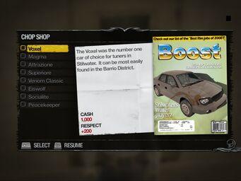Voxel - Truckyard Chop Shop list in Saints Row 2