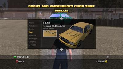 Saints Row Chop Shop - Docks and Warehouses - Taxi