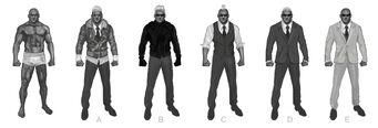 Johnny Gat Concept Art - Super Homie - six versions