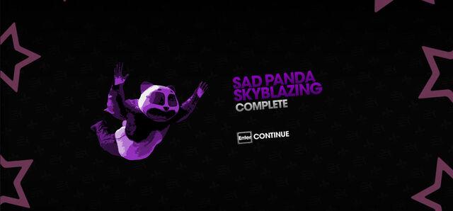 File:Sad Panda Skyblazing completion screen.jpg