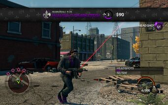 Survival 2 waves completed in Saints Row The Third