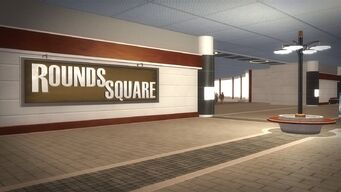 Rounds Square Shopping Center interior sign