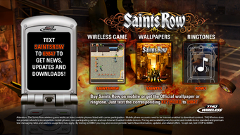 Saints Row mobile advertisement