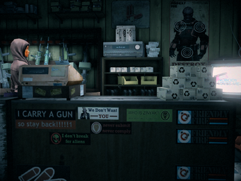 Friendly Fire interior register desk in Saints Row IV