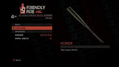 Weapon - Melee - Baseball Bat - Upgrades