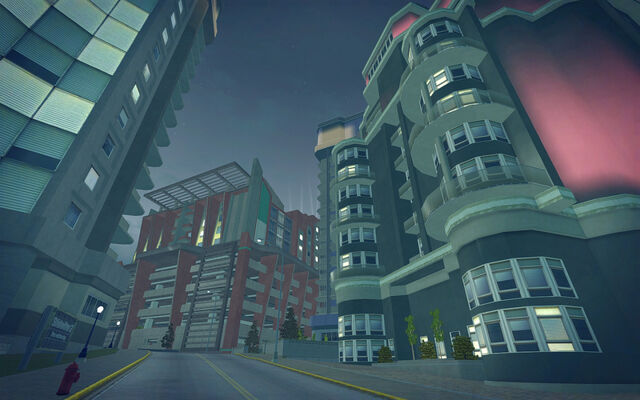 File:Tidal Spring in Saints Row 2 - buildings and Penthouse Loft.jpg