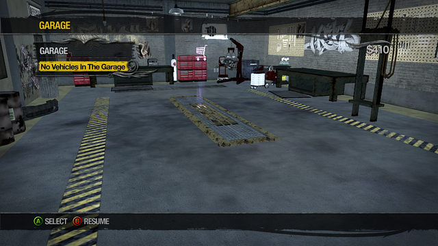 File:Garage - No Vehicles in The Garage in Saints Row 2.png