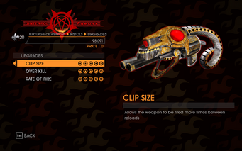 Gat out of Hell - 7 Deadly Weapons - Pride - Upgrades