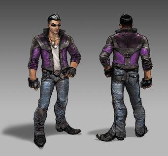 Johnny Gat Concept Art - Gat out of Hell - light jacket