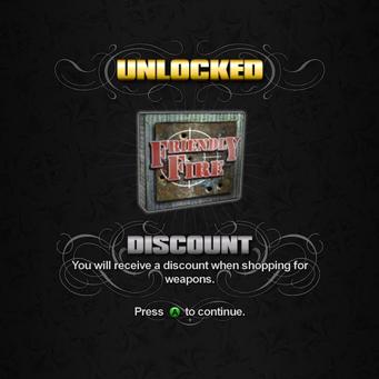 Saints Row unlockable - Discounts - 50% off Weapons