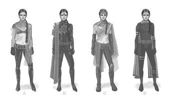 Asha Odekar Concept Art - four versions