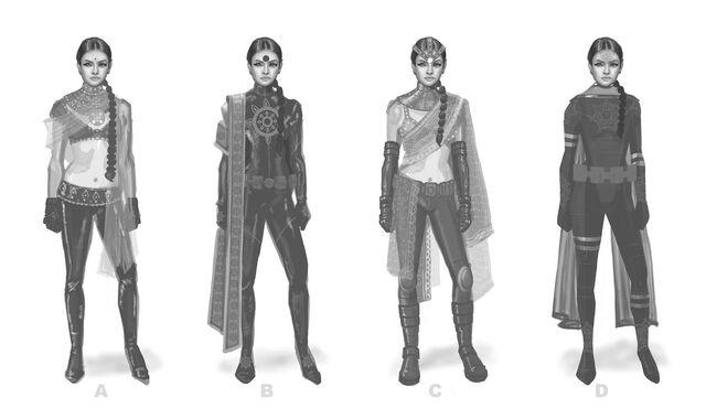 File:Asha Odekar Concept Art - four versions.jpg