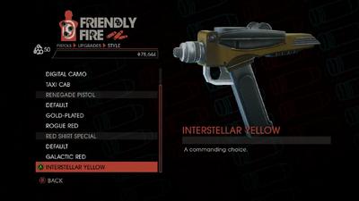 Weapon - Pistols - Quickshot Pistol - Red Shirt Special - Interstellar Yellow