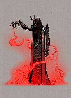 Dark Inciter Concept Art - straight with flames
