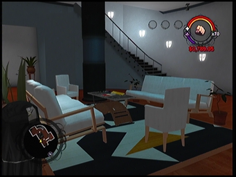 The lobby in Anthony's condo building in Saints Row