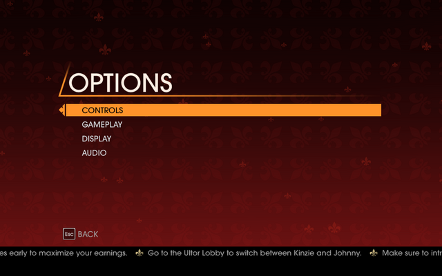File:Saints Row Gat out of Hell - Main Menu - Options.png