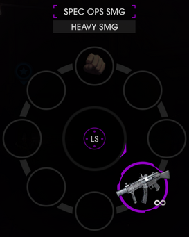 Spec ops SMG weapon wheel