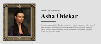 Saints Row website - People - The Cabinet - Asha Odekar