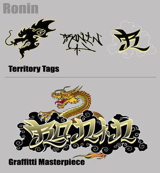 Ronin Tags and Graffiti