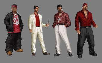 Los Carnales Concept Art - 4 versions