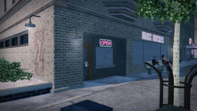 File:Brass Knuckles in Filmore - front entrance exterior.jpg