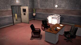 Donnie's - Interior in Saints Row 2 - office looking towards door