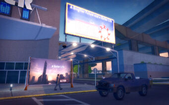 Athos Bay in Saints Row 2 - Ultor signs