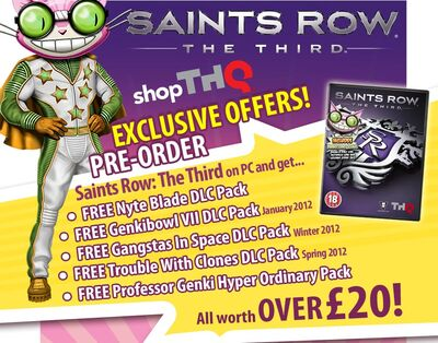 Saints Row The Third pre-order bonus list