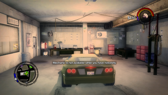 Mechanic is not available while you have notoriety in Saints Row 2
