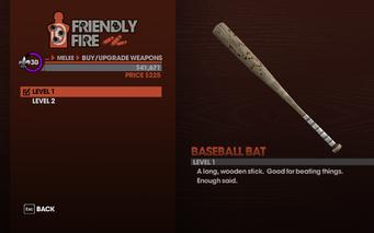 Baseball Bat in Saints Row The Third - Level 1 description