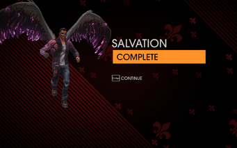 Gat out of Hell - Salvation completion screen