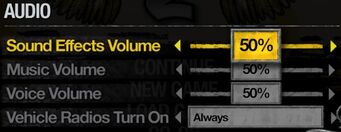 Saints Row 2 - audio settings
