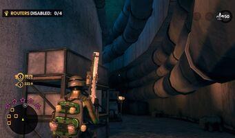 Burns Hill Reactors - interior corridor during Stop all the Downloading