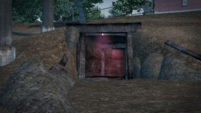 File:Cemetery Sex Cavern - open trailer park entrance from outside.jpg