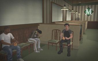 Mehrman's - interior civilians eating burgers