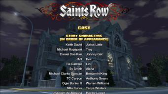 Saints Row credits screen 1