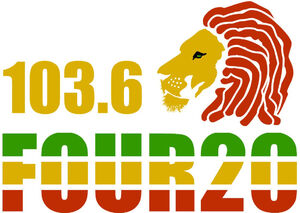Four-20 103.6 logo