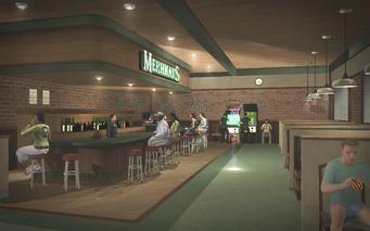 Mehrman's - interior looking at bar from entrance