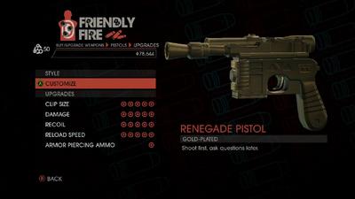 Weapon - Pistols - Quickshot Pistol - Upgrades
