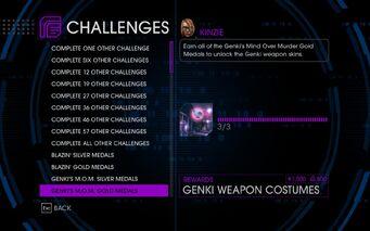 Challenge 13 Genki's M.O.M. Gold Medals