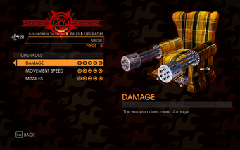 Gat out of Hell - 7 Deadly Weapons - Sloth - Upgrades
