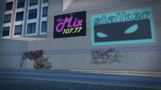 File:The Mix 107.77 small sign on building.jpg