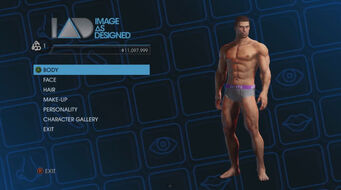Image As Designed - Player Customization menu in Saints Row IV