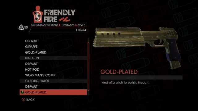 File:Weapon - SMGs - Rapid-Fire SMG - Cyborg Pistol - Gold-Plated.png